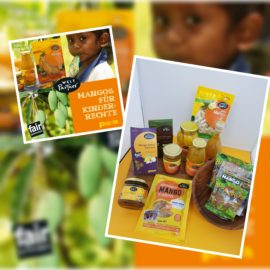 Leckere Mango-Produkte helfen Kindern