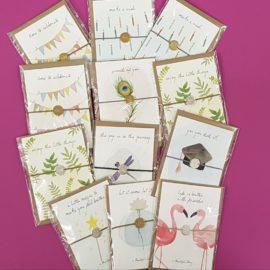 Armkettchen mit Grußkarten für liebe Freundinnen und Freunde